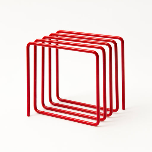 Magazine rack red Home block - Brand Academy Store