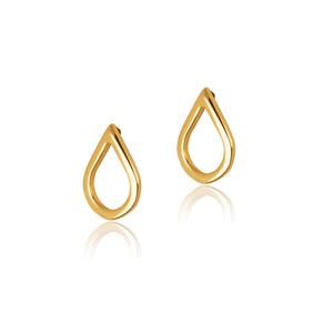 Stud earrings in gift bottle with teardrop design from 18ct gold plate