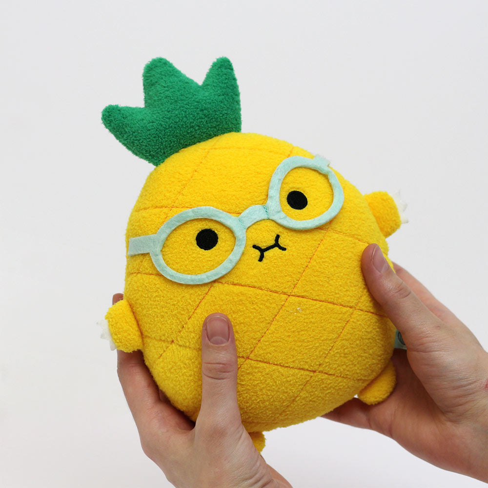 Pineapple plush soft toy for children 'Riceananas' in yellow