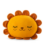 Lion cushion plush soft toy with 'Riceleon' in yellow
