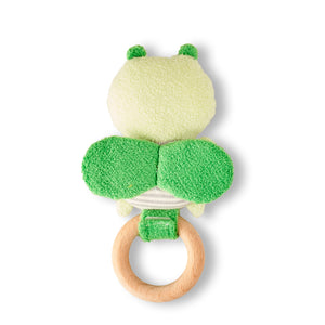Rattle for children with fly 'Ricefly' in green