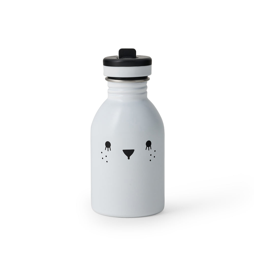 Load image into Gallery viewer, Small water bottle 9oz stainless steel in white