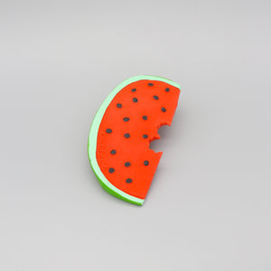 Baby Teether Toy Rubber Watermelon in Red Green