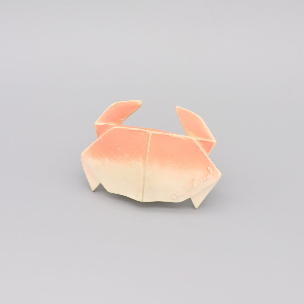 Load image into Gallery viewer, Baby Teether Bath Toy Rubber Crab 'H2Origami' Light Pink
