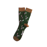 Socks Unisex Ostrich Green Black