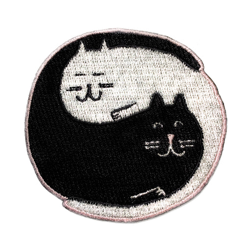 Ying yang cat stitch-on patch Misc U Studio - Brand Academy Store