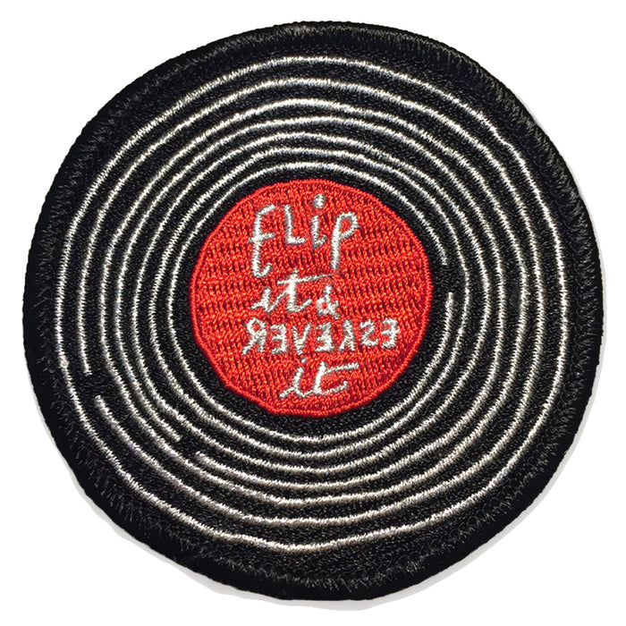 Flip reverse record stitch-on patch Misc U Studio - Brand Academy Store
