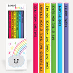 Proud rainbow pencils Stationery U Studio - Brand Academy Store