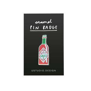 Load image into Gallery viewer, Hot sauce pin badge