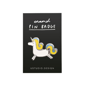 Prancing unicorn badge
