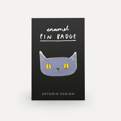 Lilac cat pin badge Misc U Studio - Brand Academy Store