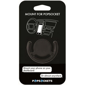Multi-surface mobile phone mount hands-free PopSockets in black
