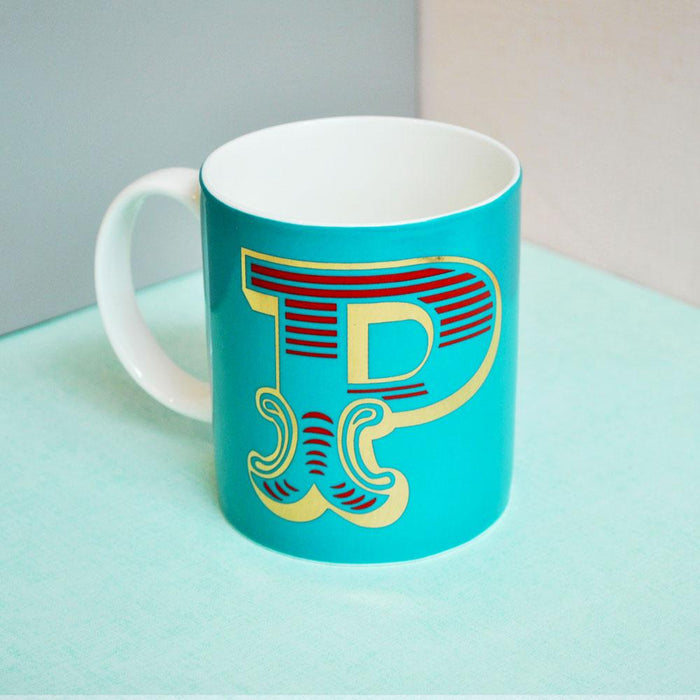 P | Luxury china mug Kitchen Huey - Brand Academy Store