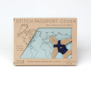 Load image into Gallery viewer, Stitch passport cover in mint