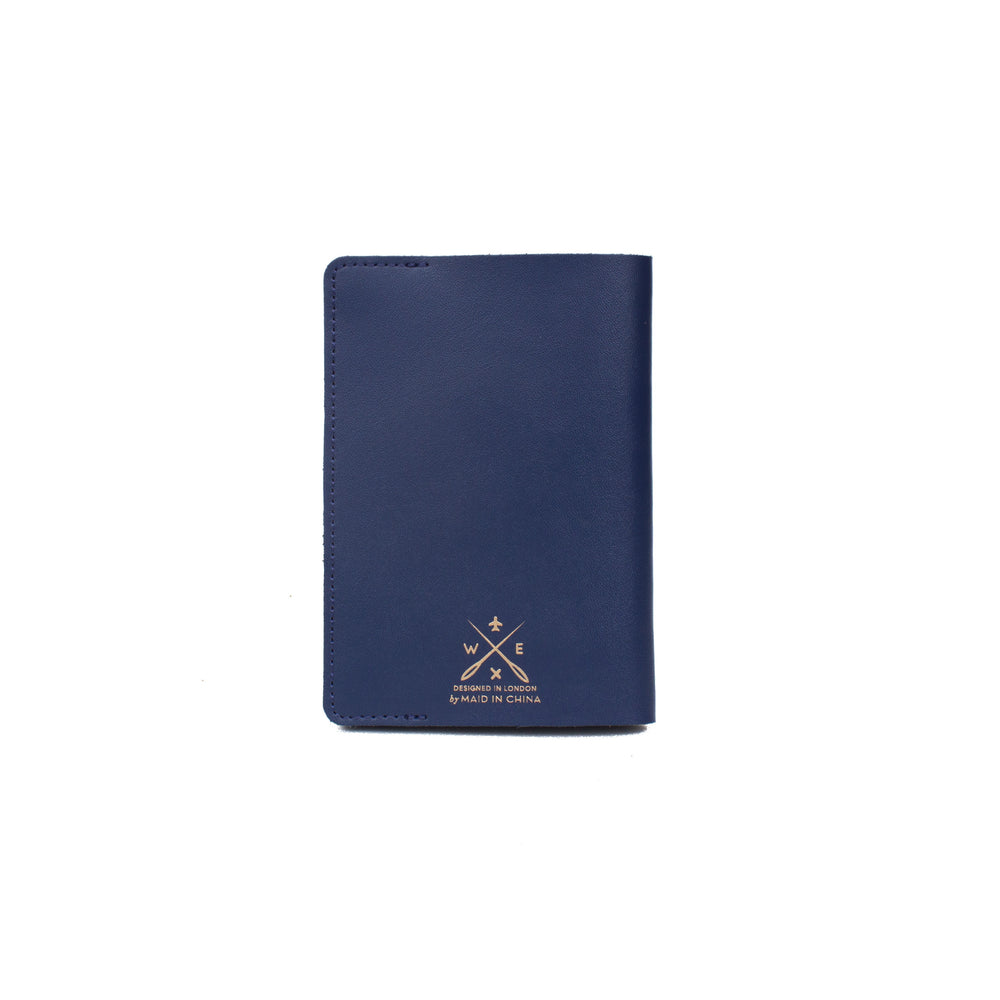 Load image into Gallery viewer, Stitch passport cover in navy