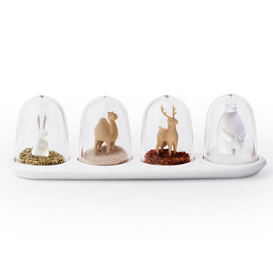 Spice Shaker Set Animal Parade - Bunny Camel Deer Bear