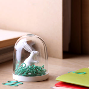 Bunny Paper Clip Holder Stationery Pot