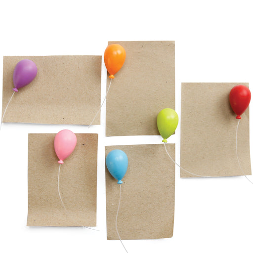 Balloon magnets set of 6 in multicolour