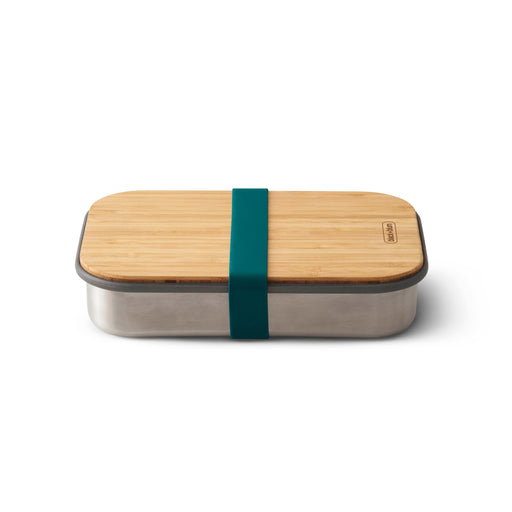 Sandwich box from stainless steel in ocean blue