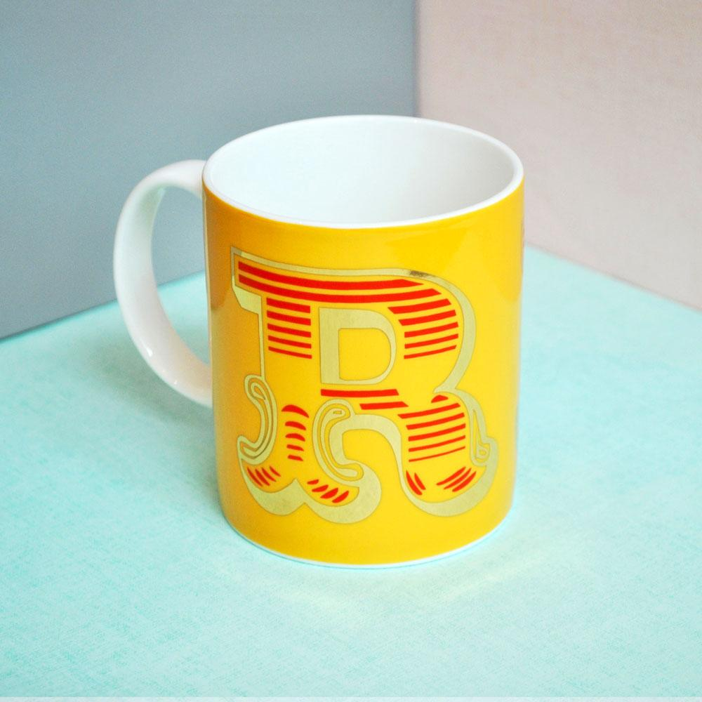 R | Luxury china mug Kitchen Huey - Brand Academy Store