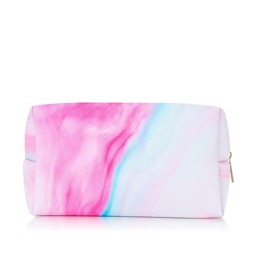 Make up bag in pink pastel dream design faux leather