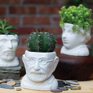 Plant Pot Sigmund Freud Mini Planter White