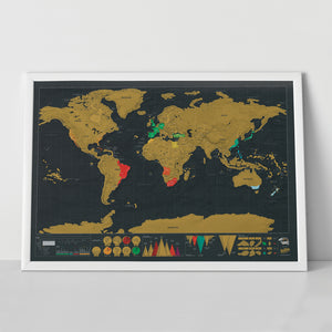 Deluxe World Map Scratch Map Large
