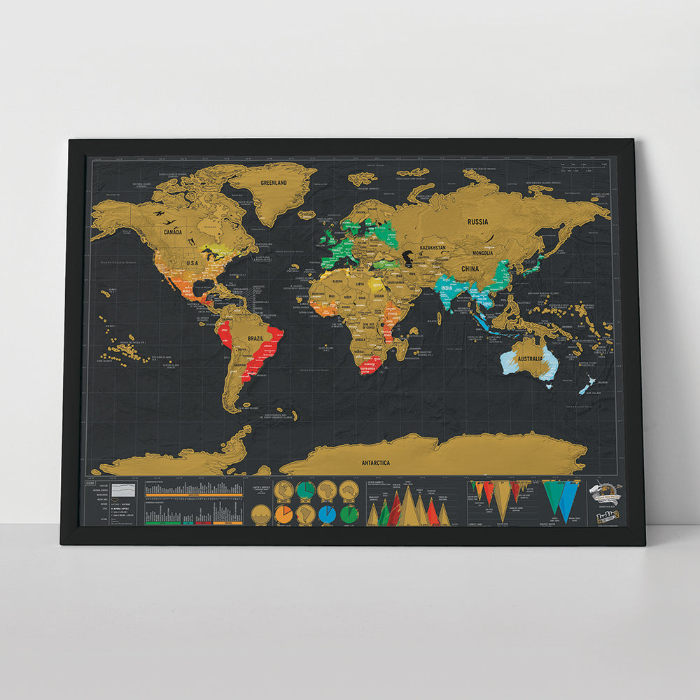 Scratch Map Deluxe Travel Size
