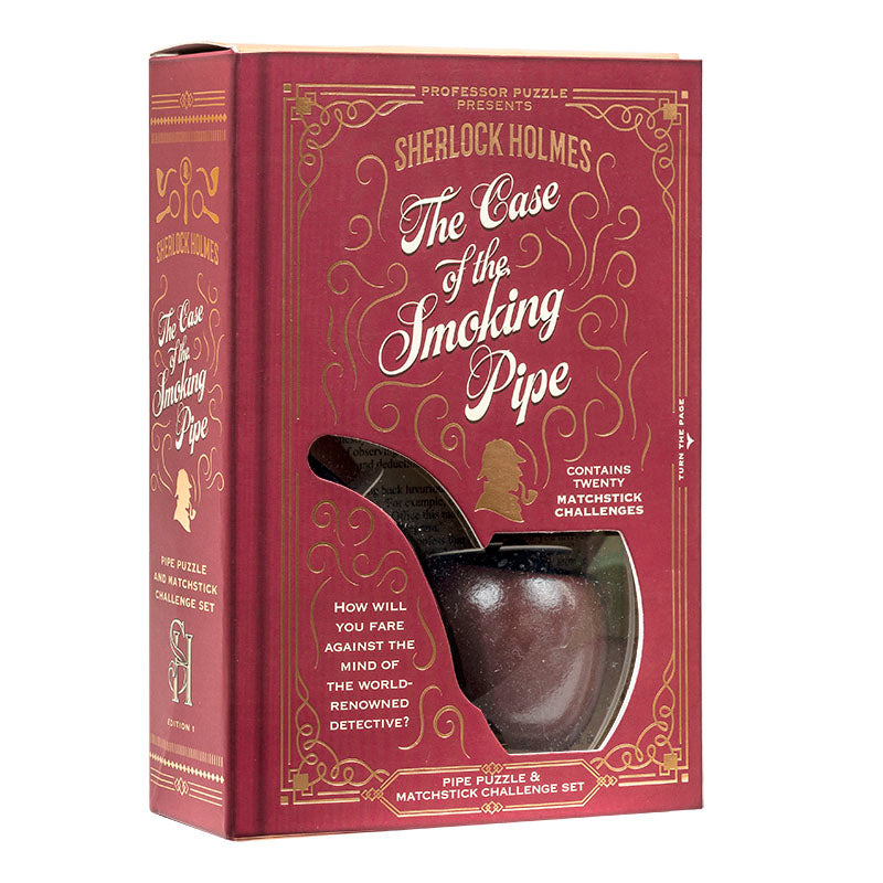 Puzzle Game 'Sherlock's Smoking Pipe' Matchstick Challenge Set Red