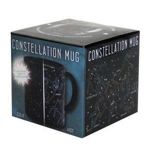 Mug Constellation Star Zodiac Disappearing Heat Changing in Black and Navy