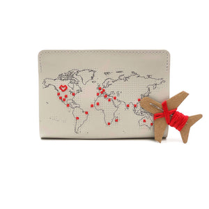 Passport Cover Stitch Your Own Faux Leather Light Grey