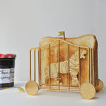 Golden tiger toast rack