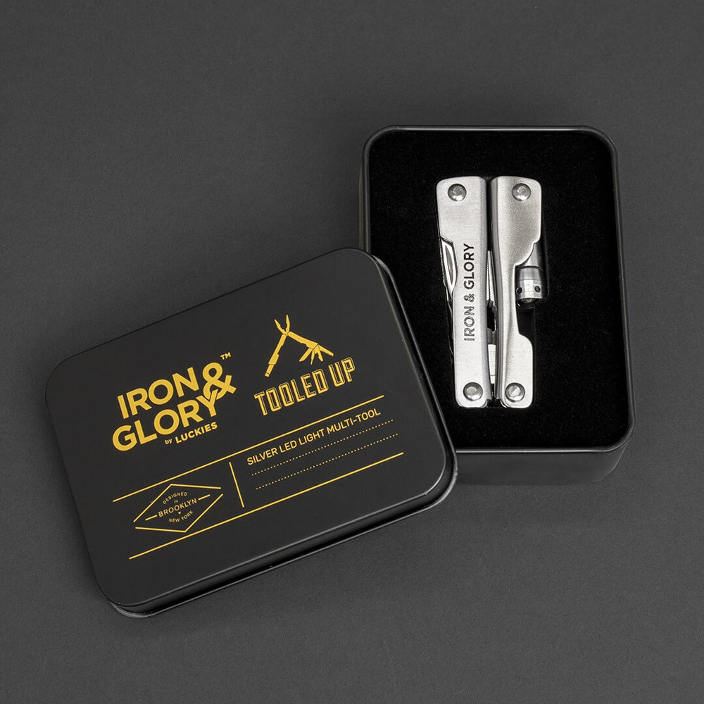 Pocket multi-tool 'Tooled up' Iron and Glory Silver