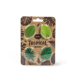 Load image into Gallery viewer, Magnets Tropical Stationary set of 4 Green