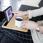 iBed Wooden Cushioned Lap Desk / Tablet Tray