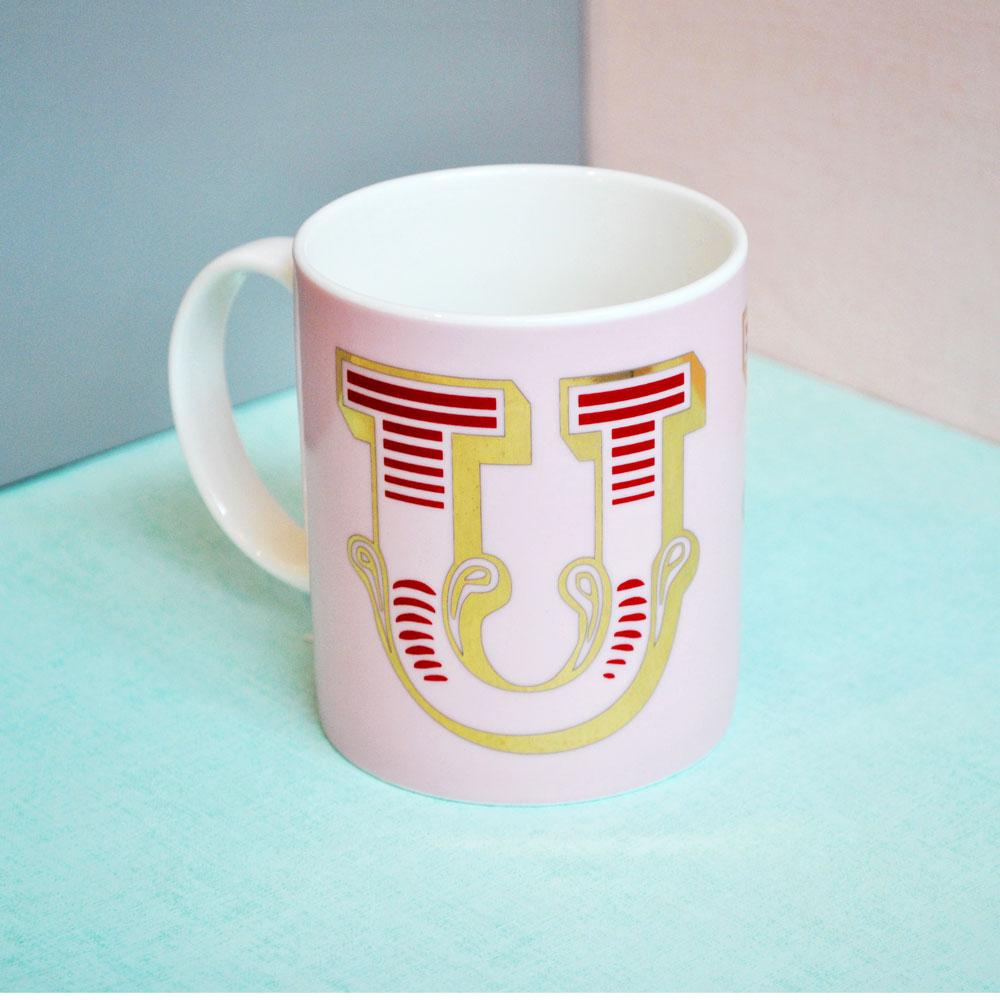U | Luxury china mug Kitchen Huey - Brand Academy Store