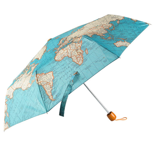 Vintage map folding umbrella Accessories Sass & Belle - Brand Academy Store