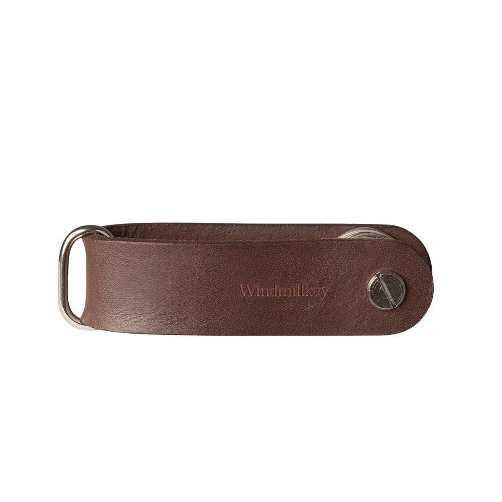Load image into Gallery viewer, Leather key organizer 'Windmillkey' in brown