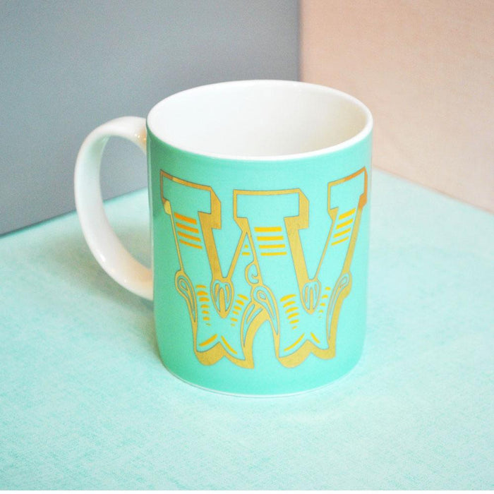 W | Luxury china mug Kitchen Huey - Brand Academy Store
