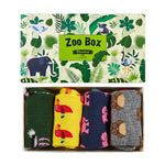 Zoo Animal Socks Set Gift Box