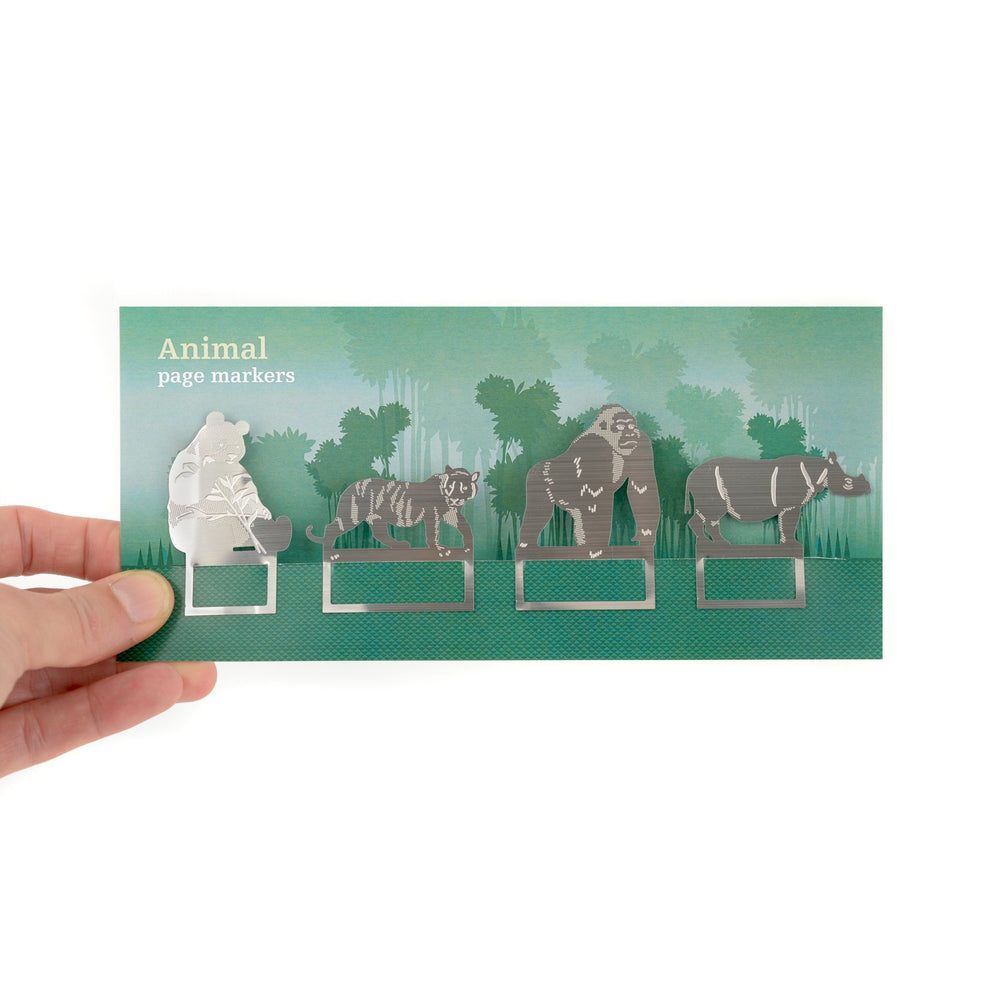 Bookmarks Jungle Animals Silver Green
