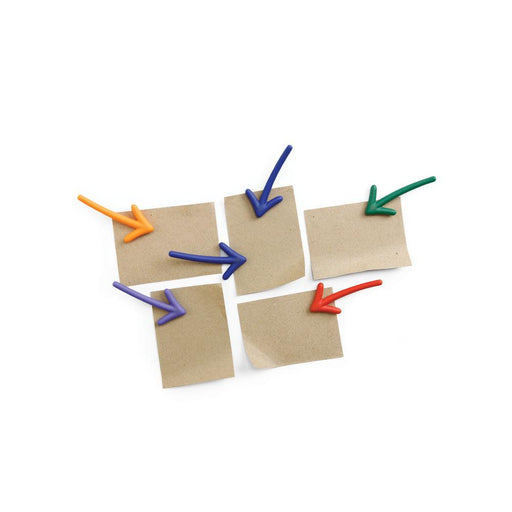 Arrow magnets set of 6 in multicolour