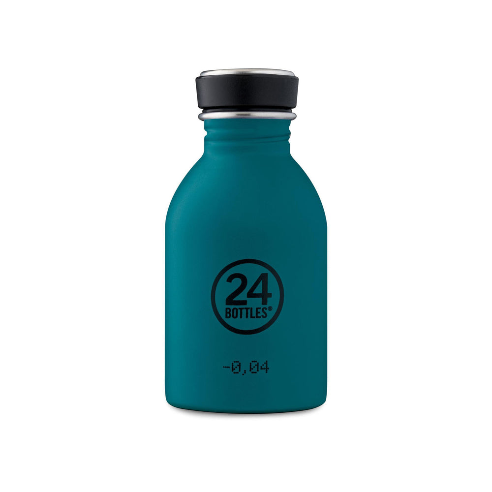 Water Bottle Lightweight 250ml Blue-Green Teal Atlantic Bay Stone