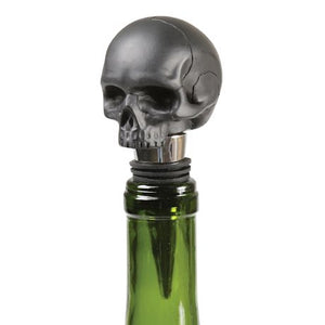 Bottle Stopper Skull 'Death by Wine' Iron and Glory Black