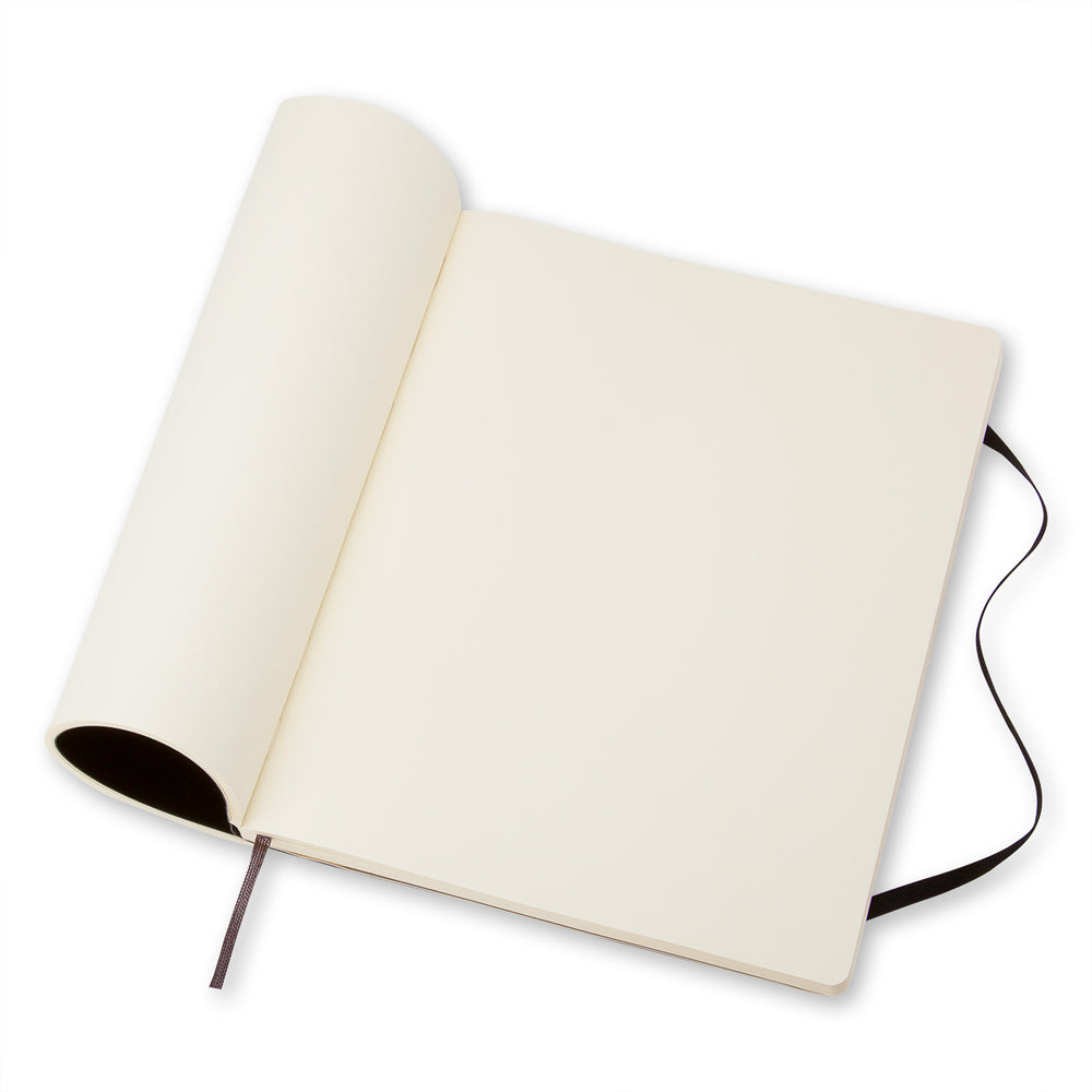 Notebook Plain Soft Extra Large in Black