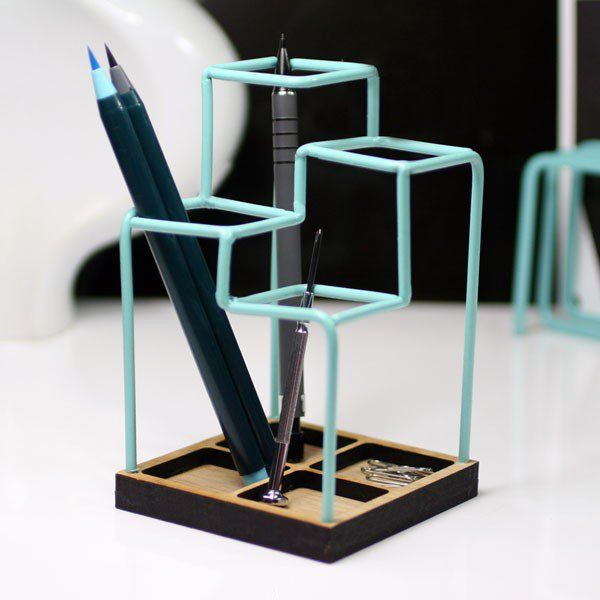 Load image into Gallery viewer, Sketch desk tidy | Blue