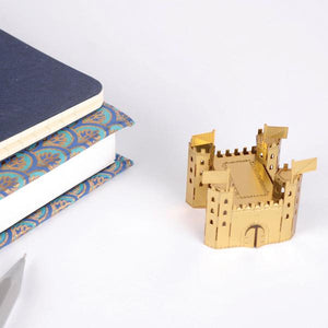 Load image into Gallery viewer, Castle mini model Mini-onaire in Gold