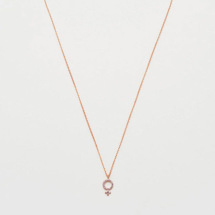 XXEB Femle sgn Necklce Rose