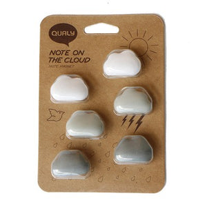 Cloud magnets set of 6 in monochrome