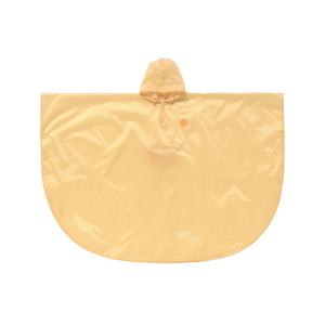 Rain Poncho Foldable Smile Yellow